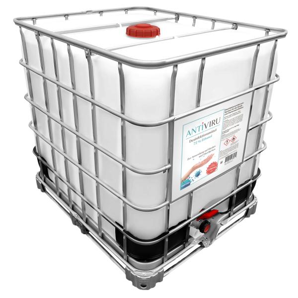ANTiVIRU Hand- & Flächendesinfektionsmittel - keine Stinkeware - 1000l IBC-Container