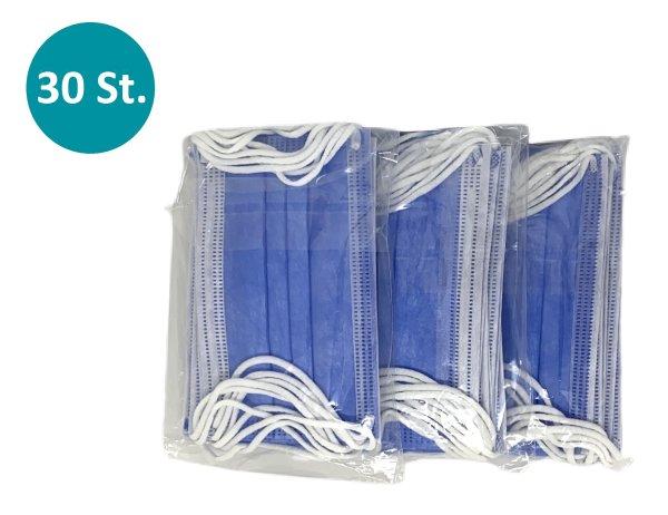 30x MNS für Kinder 3-lagig - blau